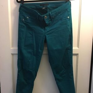 Turquoise Kenneth Cole low rise skinny jeans